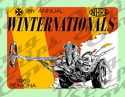 1969 9th Annual NHRA Winternationals Drag Strip Drag Race Racing Decal